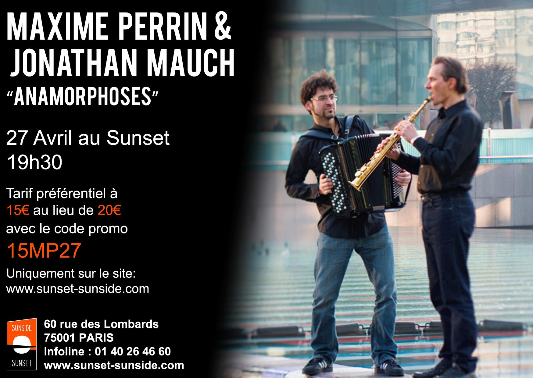 Affiche du concert d'Anamorphoses : Maxime Perrin et Jonathan Mauch