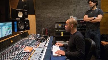 Maxime Perrin accordeoniste, mixage studio Anamporhose